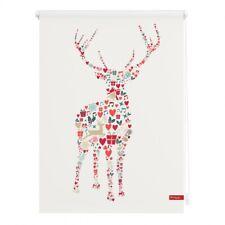 Lichtblick Rollo Klemmfix, ohne Bohren, blickdicht, Rentier Weihnachten - Farbe