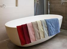 """LUSSO Morbido Cotone Tappetino colori diversi 50x60cm (20x24"""") Lavabile Tappetino da bagno"""