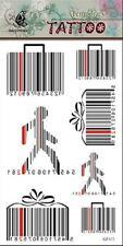 Black Bar code Pattern - Body Art Temporary Tattoo Sticker 631