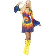 70er Jahre Kostüm Hippie Kleid Hippiekostüm Retro Damenkleid 60er Party Outfit