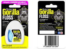 3x, 6x or 9x Piksters Gorilla Dental Floss 30m Packs - Buy Bulk & Save!