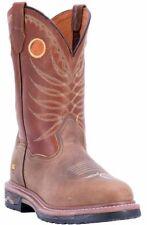 Dan Post FOREMAN DP69212 Men's Tan-Brown Leather Broad Round Soft Toe Boots