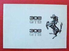 Ferrari 308 GTB GTS Sales Brochure Catalogue