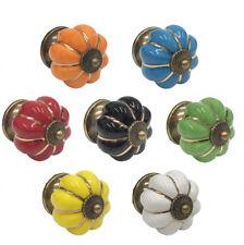 Di alta qualità in ceramica Zucca Armadio Porta Manopola (scelta di colori disponibili)