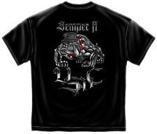Marine Corps, USMC T-Shirt Semper Fi Chrome Dog Marine Corps Black