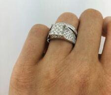 3.10 Ct Round Cut D Diamond Engagement & Wedding Ring Set 14k White Gold Over