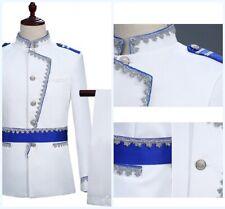 Men Tuxedo Stand Collar 2pcs Suit Blazer Coat Military uniforms Slim fit Jacket