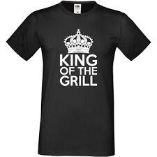 Il re della griglia T-SHIRT ESTATE BBQ BARBECUE CUCINA CHEF DIVERTENTE