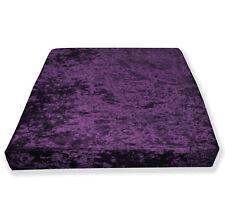 Mv14t Violet Purple Diamond Crushed Velvet 3D Box Seat Cushion Cover Custom size