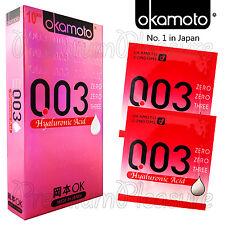 Okamoto 003 Hyaluronic Acid condoms * Moisture lubricant * Retail box of 10 PCS