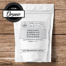 Organic Siberian Ginseng Powder, 50/100/200/400/1000g - Premium