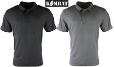 Kombat Combate Militar Ejército táctica Polo Camiseta ventex Top Negro Gris