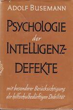 Busemann: Psicologia dell'intelligenza-difettoso (con fig.) EA 1959