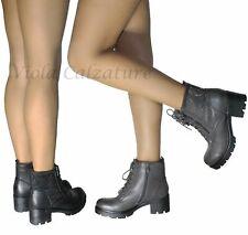 Scarpe donna Stivaletti Biker Boots strass comodi nuovo 105