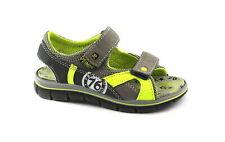 PRIMIGI 1396100 31/34 talpa grigio scarpe sandali bambino strappi pelle