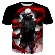 Womens/Mens Tokyo Ghoul Anime 3D Print Casual T-Shirt Tops Tee Short Sleeve T15