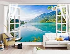 Sunward Window 3D Wall Paper Print Wall Decal Wall Deco Indoor Wall Murals