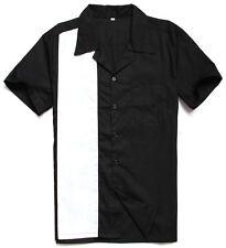 men's rockabilly clothing 1950s vintage online bowling shirts black white club