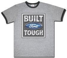 Built Ford Tough gray men's size ringer tee shirt t-shirt