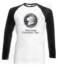 STRATTON OAKMONT BASEBALL T SHIRT WOLF OF WALL STREET T-SHIRT JORDON BELFORT