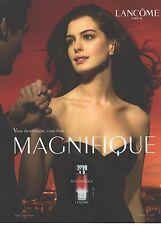 PUBLICITE  ADVERTISING 2008  LACOME ANNE HATAWAY aime le parfum