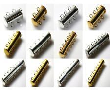 2 3 4 5 6 7 Strand Magnético bloqueo Slide broches de plata o chapado en oro