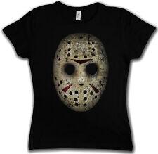 JASON HOCKEY MASK DAMEN GIRLIE SHIRT - Vorhees Friday Movie The 13 13th X Shirt