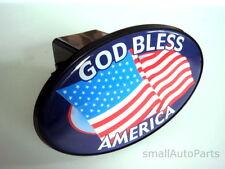 "*GOD BLESS AMERICA USA FLAG TOW HITCH COVER*  car/truck trailer 2"" receiver plug"