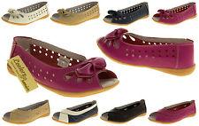 Womens Leather Ballerinas COOLERS PREMIER Flats Ladies Summer Sandals Pumps
