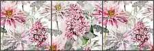 Ceramic Tile Mural Backsplash Mysak Flowers Floral Strip LM2-004