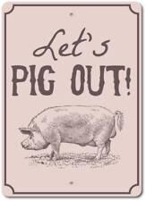 Pig Out Sign, Pig Decor, Pig Gift, Pig Sign, Pig Lover Gift ENSA1003008