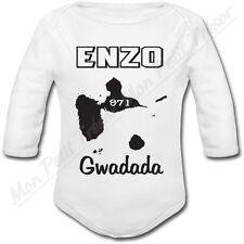 Body Bébé Guadeloupe avec prénom ou texte personnalisé