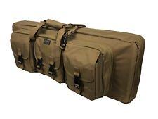"Ddt Death Dealer Tactical Double Rifle Case Coyote Tan 36"" 42"" 3 Gun Multi Gear"