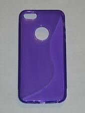 Purple S-Line TPU Soft Skin Case For Apple iPhone 5 5G