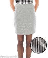 Relco Womens Dogtooth Check Fitted Skirt 60s Mod Skin Ska Skinbryd