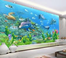3D Beau Fond Mer 78 Photo Papier Peint en Autocollant Murale Plafond Chambre Art