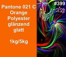 capa del Polvo Polvo Para Recubrimiento Pantone 021C Naranja Brillante