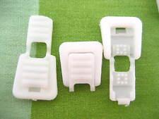 20 Piezas Blanco Cable extremos cremallera bucle Tipo de dos extremos del elástico cordón elástico