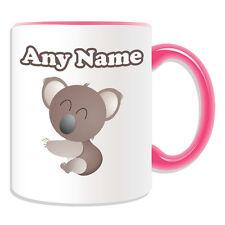 Personalised Gift Smiley Koala Mug Money Box Cup Animal Insect Design Theme Cute