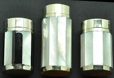 Salzstreuer & Pfefferstreuer edle Perlmutt aus Burma 45, 60, 70 mm, irisierend