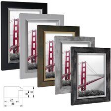 Bilderrahmen Elegance Holz MDF Foto Poster Rahmen Farbe Größe Wählbar Modern