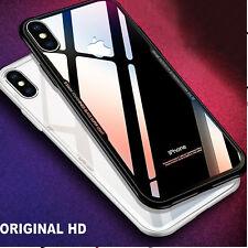 COVER per Iphone X 7 6 6S ORIGINALE Crystal Glass con RETRO VETRO TEMPERATO