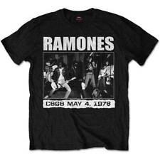 Homme le ramones CBGBS 1978 punk rock officiel tee t-shirt homme unisexe