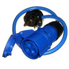 13 Amp Plug to 16 Amp Coupler Socket 230V Mains Fly Lead 2.5mm 2P+E Caravan