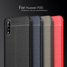Cáscara Para Huawei P20, P20 Pro, P20 Lite Aspecto De Cuero Protección