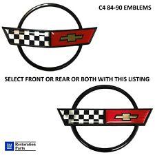 Corvette C4 84-90 Nose Hood Emblem Gas Lid Emblem or Both