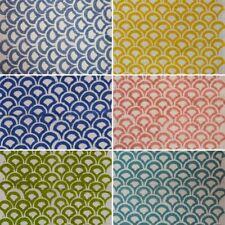 100% Cotton Fabric Multi Flower Hand Block Print Running Loose Swing Craft Throw