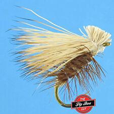 Elk Hair Caddis Tan Premium Fishing Flies - One Dozen - Sizes Available*