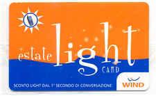 ESTATE LIGHT CARD RICARICA WIND CARTA 10.000 LIRE PER SERVIZI NUOVA