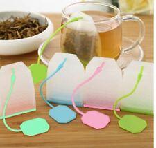 Tea Infuser Silicone and Plastic Infuser Loose Tea Leaf Leaves Strainer Tea Bag
